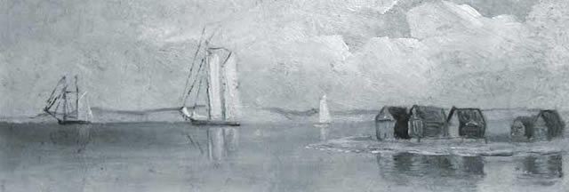 Painting of Chappy Point, by Laura Jernegan, circa 1890-1910